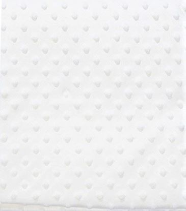 Picture of White Baby Peas Blanket Fluffy Fabric