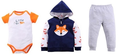 Picture of 3 pcs baby clothing set