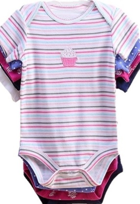 Picture of 5pcs Baby short- sleeve romper set