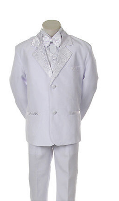 Picture of FORMAL Quality BOYS' 5 PCS WHITE TUXEDO