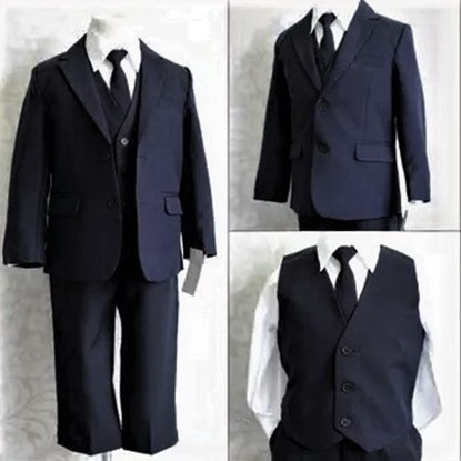 Picture of Navy Matching suit set, perfect for all occasion