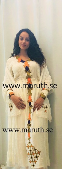 Picture of Handmade cotton Ethiopian Dress