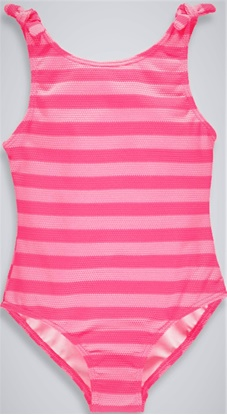 Picture of Girls waffle Stripe Swimming Costume 4-13yrs